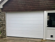 Light-weight garage door and side door