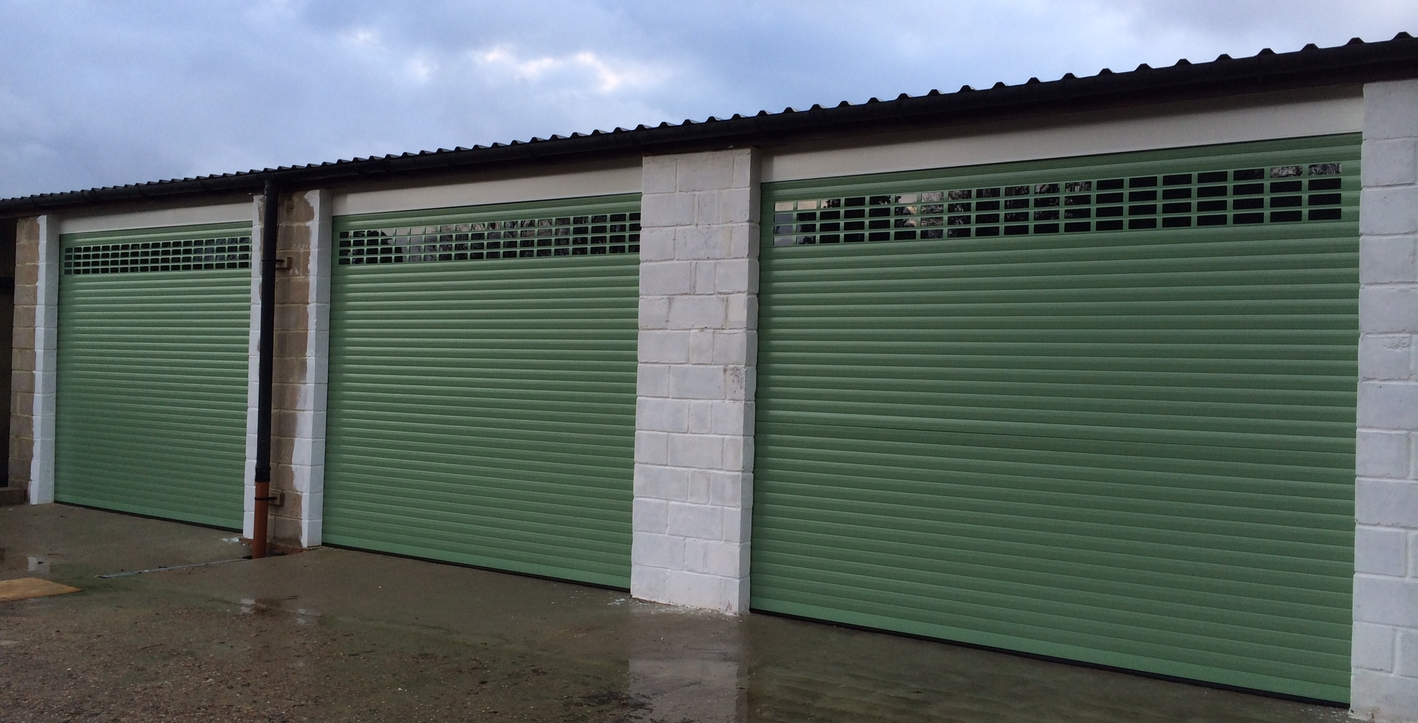 Secure roller garage doors