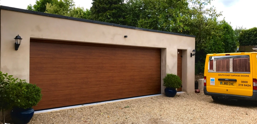 Extra wide garage door installed by South East Garage Doors