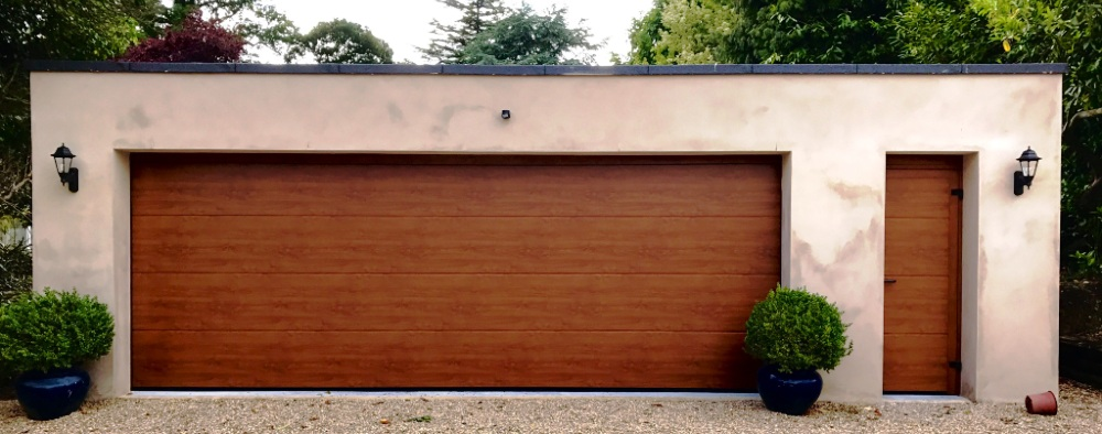 Extra wide Hormann sectional garage door