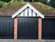 Three wood effect doors