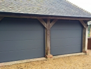 Open bay turned into a double garage