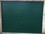 Garage door for concrete garage