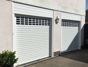 Roller garage door with windows