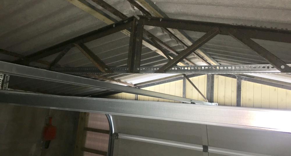 New metalwork for new garage door