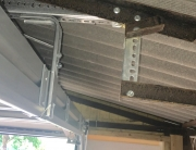 New metal framework for new garage door