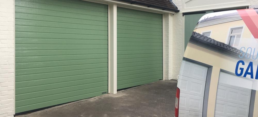 Funeral parlour garage doors