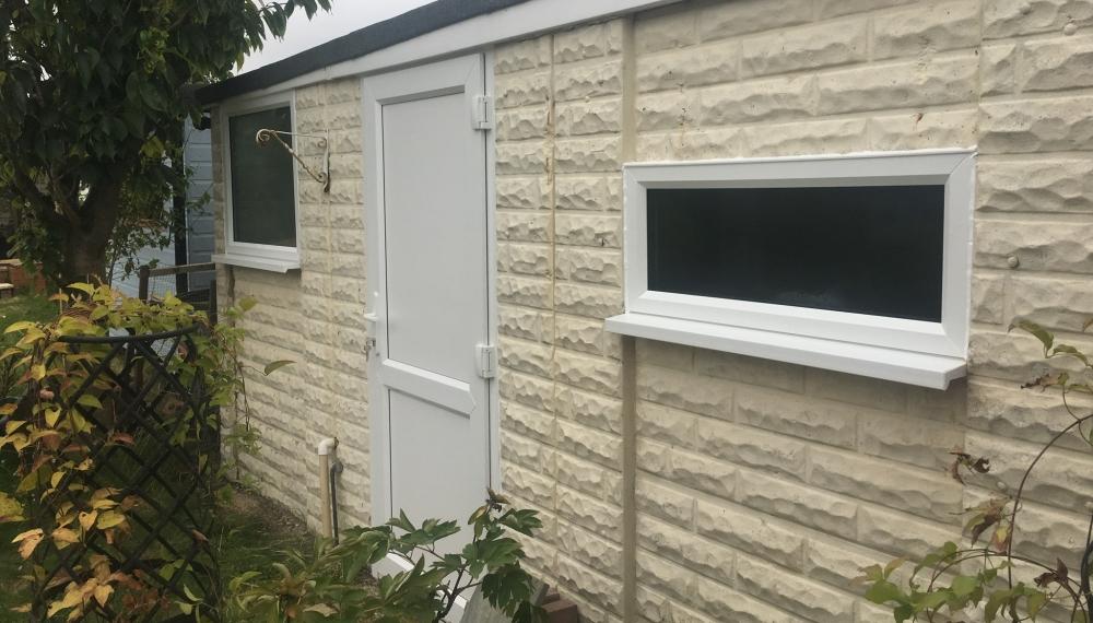Side door and windows