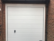 Garage door at front of garage
