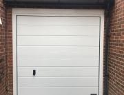 Garage door at front of garage