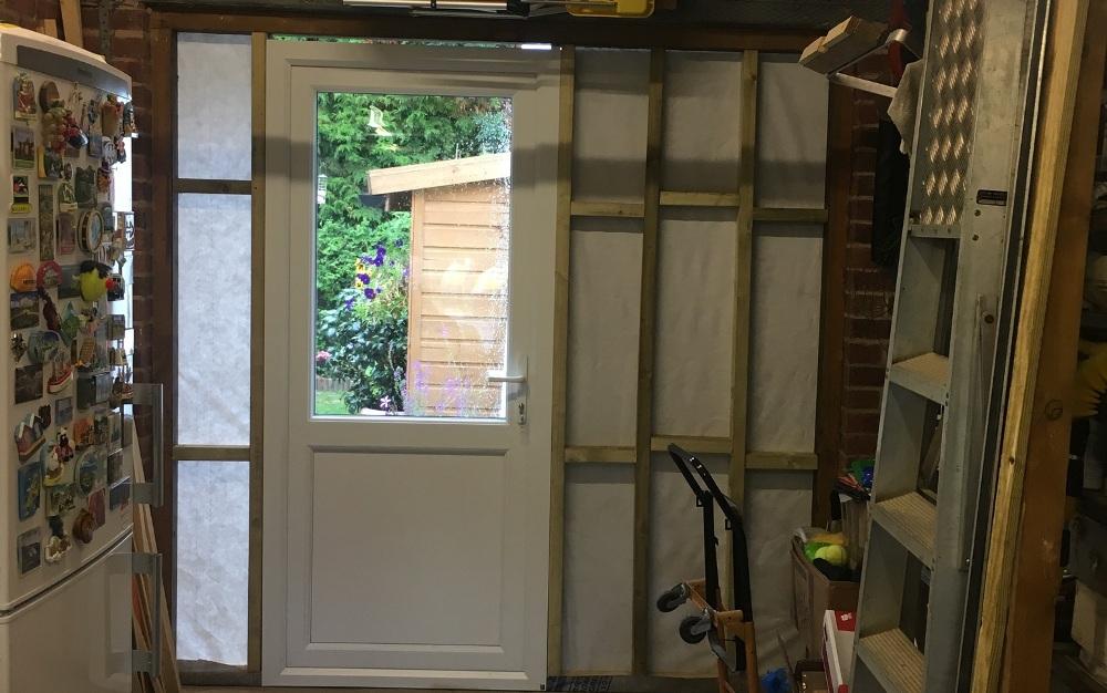 Replacement door from garage to garden