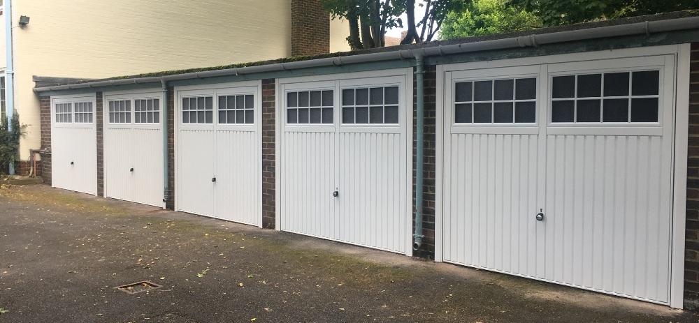 New garage doors for garage bloc