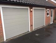 Garage makeover - two garages doors, side door and window
