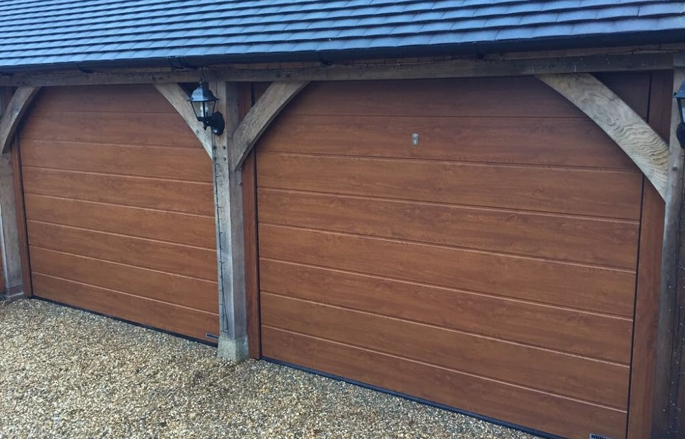 Sectional garage door transforms carport | South East ...