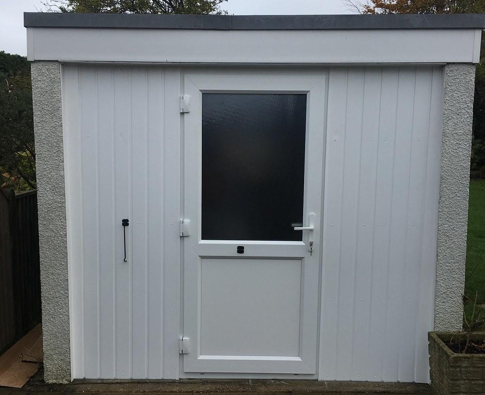 Convert garage door to utility room entrance